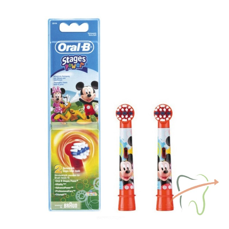 Насадки Braun Oral-B Stages Power EB10 Mickey Mouse детские, 2 шт
